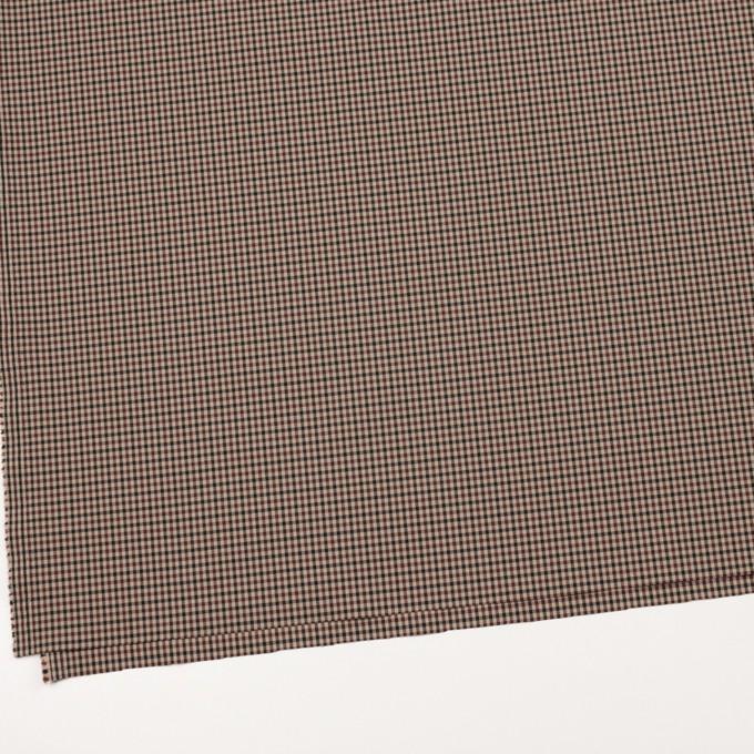 ナイロン&ポリエステル混×チェック(モカブラウン)×サージストレッチ_イタリア製 イメージ2