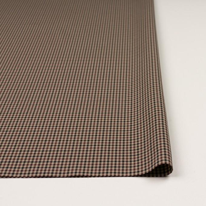 ナイロン&ポリエステル混×チェック(モカブラウン)×サージストレッチ_イタリア製 イメージ3