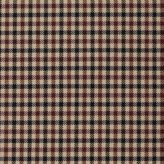 ナイロン&ポリエステル混×チェック(モカブラウン)×サージストレッチ_イタリア製 イメージ1