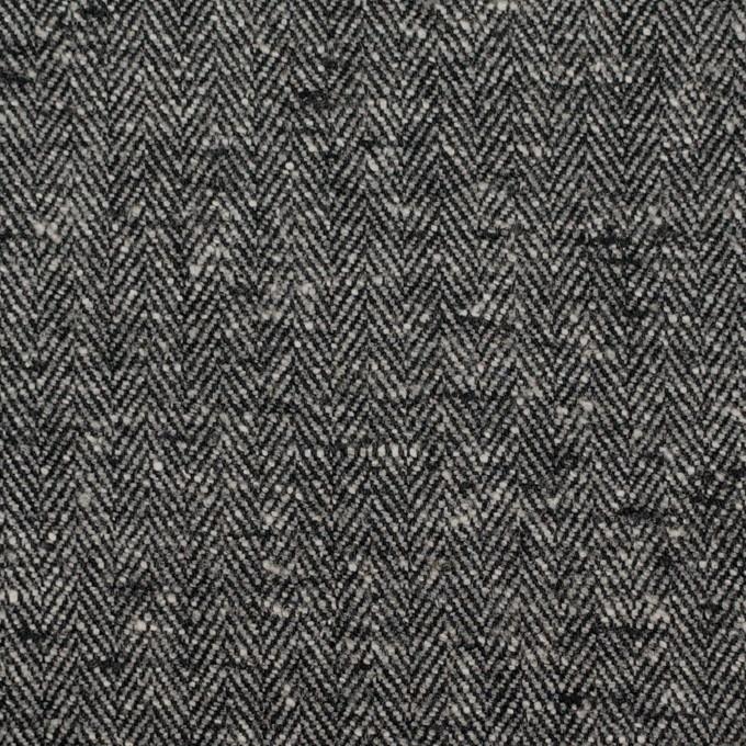 コットン×ミックス(グレー&ブラック)×ヘリンボーン イメージ1