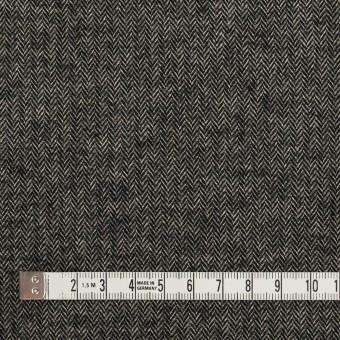 コットン&ポリウレタン×ミックス(キナリ&ブラック)×ヘリンボーン・ストレッチ サムネイル4