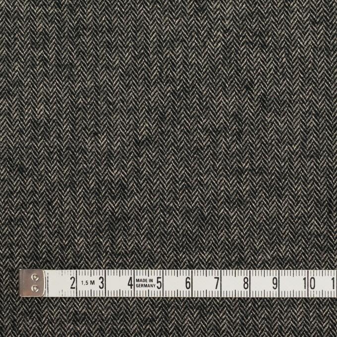 コットン&ポリウレタン×ミックス(キナリ&ブラック)×ヘリンボーン・ストレッチ イメージ4