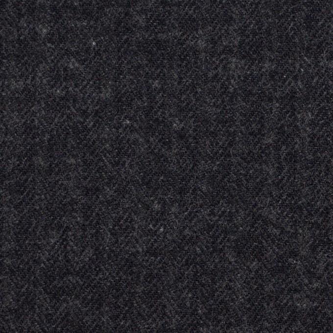コットン&ポリウレタン×無地(チャコール)×ヘリンボーン・ストレッチ イメージ1