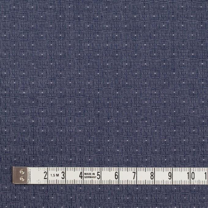 コットン×幾何学模様(ネイビー)×ジャガード_全2色 イメージ4