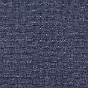 コットン×幾何学模様(ネイビー)×ジャガード_全2色 サムネイル1