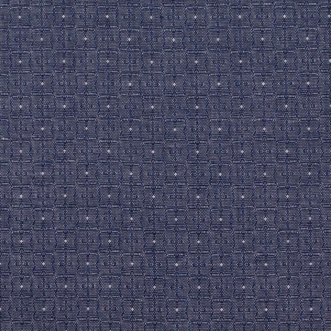 コットン×幾何学模様(ネイビー)×ジャガード_全2色 イメージ1