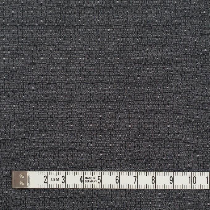 コットン×幾何学模様(チャコール)×ジャガード_全2色 イメージ4