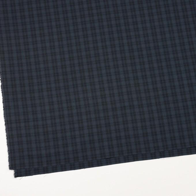 コットン×チェック(ブルイッシュグレー&ブラック)×ジョーゼット イメージ2