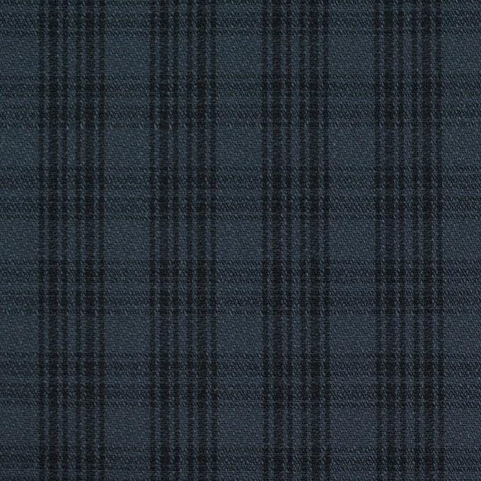 コットン×チェック(ブルイッシュグレー&ブラック)×ジョーゼット イメージ1