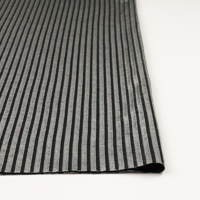 コットン&ポリエステル×ストライプ(シルバー&ブラック)×Wニット イメージ3