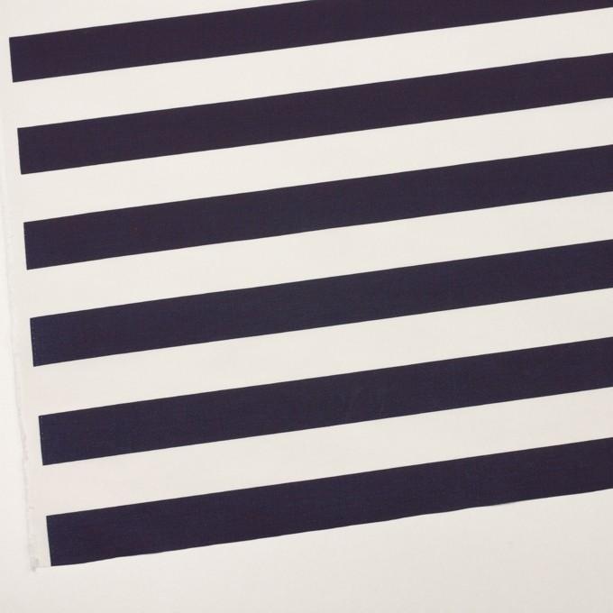 ナイロン&コットン×ボーダー(ネイビー)×タッサーポプリン イメージ2