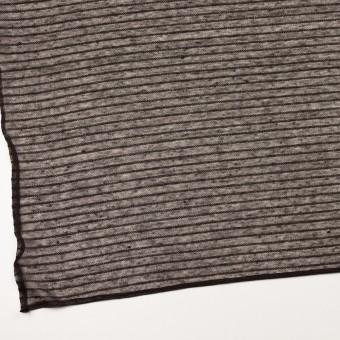 リネン&ナイロン混×ボーダー(ダークブラウン)×メッシュニット_イタリア製 サムネイル2