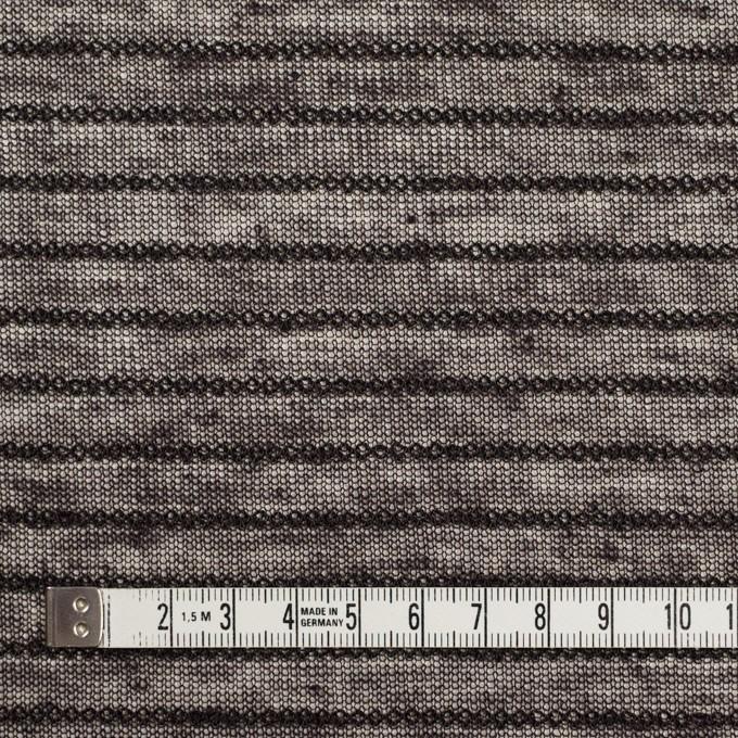 リネン&ナイロン混×ボーダー(ダークブラウン)×メッシュニット_イタリア製 イメージ4