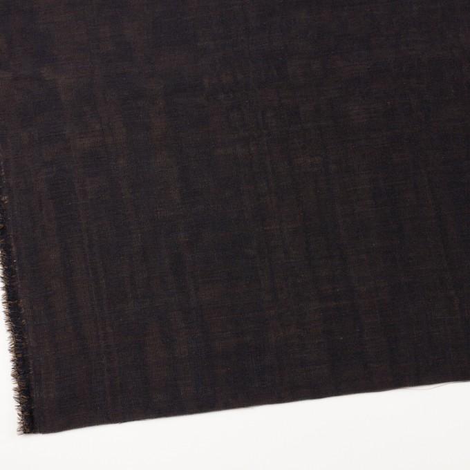 ウール&シルク×無地(ダークネイビー&ゴールド)×トリプルガーゼ_イタリア製 イメージ2