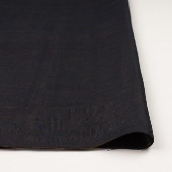ウール&シルク×無地(ダークネイビー&ゴールド)×トリプルガーゼ_イタリア製 サムネイル3
