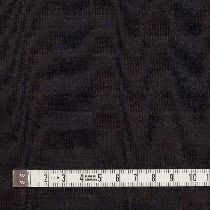 ウール&シルク×無地(ダークネイビー&ゴールド)×トリプルガーゼ_イタリア製 イメージ4