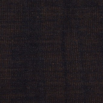 ウール&シルク×無地(ダークネイビー&ゴールド)×トリプルガーゼ_イタリア製