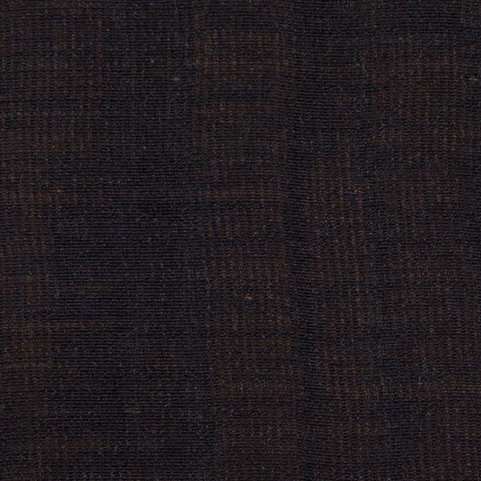 ウール&シルク×無地(ダークネイビー&ゴールド)×トリプルガーゼ_イタリア製 イメージ1