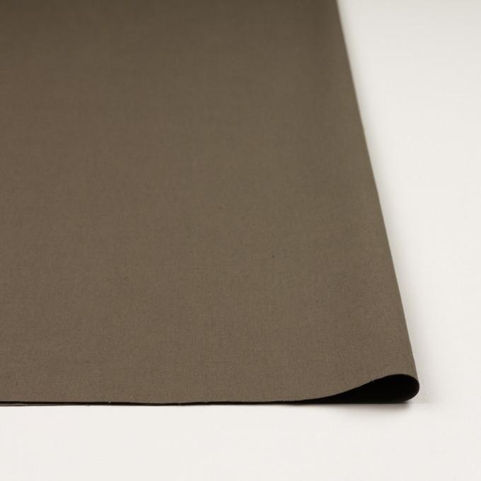 コットン&リネン混×無地(モスグレー)×キャンバス・ストレッチ_イタリア製 イメージ3