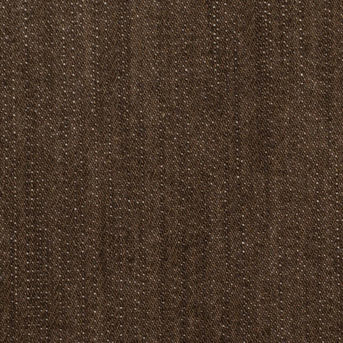 コットン&ポリウレタン×無地(ダークブラウン)×カツラギ・ストレッチ イメージ1
