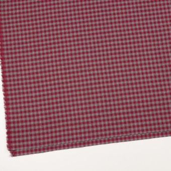コットン&ポリエステル×チェック(ストロベリーレッド&グレー)×ヘリンボーン_全4色 サムネイル2