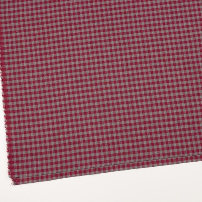 コットン&ポリエステル×チェック(ストロベリーレッド&グレー)×ヘリンボーン_全4色 イメージ2