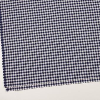 コットン&ポリエステル×チェック(ネイビー&オフホワイト)×ヘリンボーン_全4色 サムネイル2