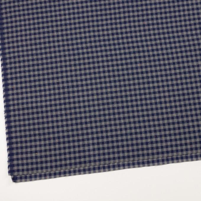 コットン&ポリエステル×チェック(ネイビー&グレー)×ヘリンボーン_全4色 イメージ2