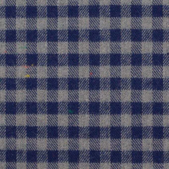 コットン&ポリエステル×チェック(ネイビー&グレー)×ヘリンボーン_全4色 イメージ1