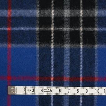 コットン×チェック(マリンブルー&ブラック)×フランネル サムネイル4