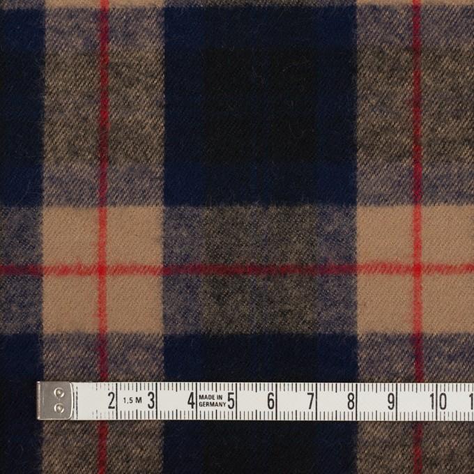 コットン×チェック(オークルベージュ&ネイビー)×フランネル イメージ4