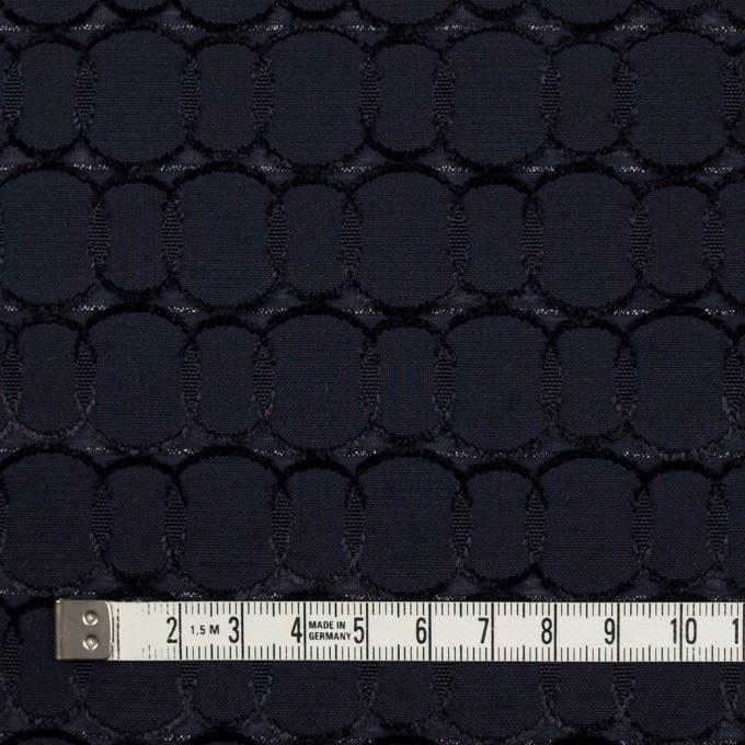 ポリエステル&レーヨン混×サークル(ダークネイビー)×ボイルカットジャガード_全2色 イメージ4