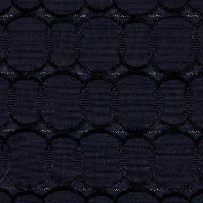 ポリエステル&レーヨン混×サークル(ダークネイビー)×ボイルカットジャガード_全2色 イメージ1