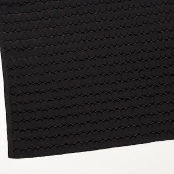 ポリエステル&レーヨン混×サークル(ブラック)×ボイルカットジャガード_全2色 サムネイル2
