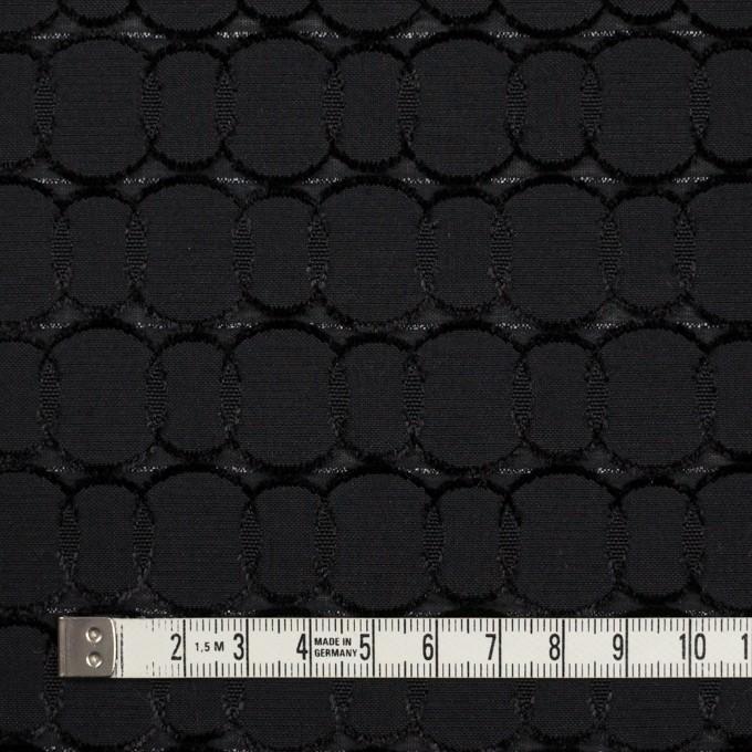 ポリエステル&レーヨン混×サークル(ブラック)×ボイルカットジャガード_全2色 イメージ4