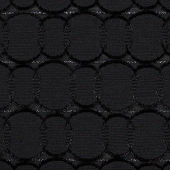ポリエステル&レーヨン混×サークル(ブラック)×ボイルカットジャガード_全2色 サムネイル1