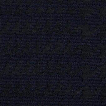 ポリエステル&ウール×チェック(ダークネイビー)×ジャガード サムネイル1