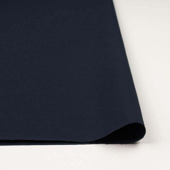 コットン&ポリエステル×無地(ダークネイビー)×ポプリン_イタリア製 イメージ3