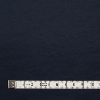 コットン&ポリエステル×無地(ダークネイビー)×ポプリン_イタリア製 サムネイル4