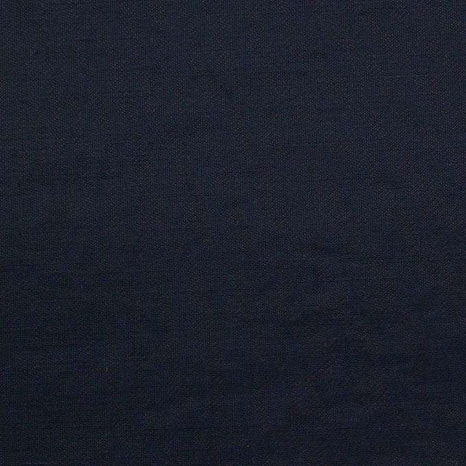 コットン&ポリエステル×無地(ダークネイビー)×ポプリン_イタリア製 イメージ1