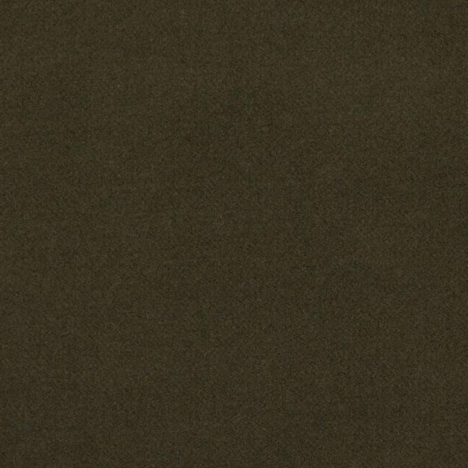 コットン&ポリウレタン×無地(カーキグリーン)×フランネル・ストレッチ_全4色 イメージ1