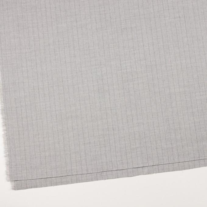 ウール&レーヨン混×ストライプ(シルバーグレー)×サージストレッチ イメージ2