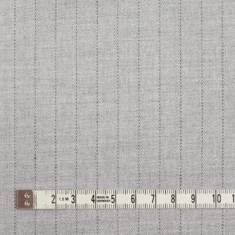 ウール&レーヨン混×ストライプ(シルバーグレー)×サージストレッチ サムネイル4