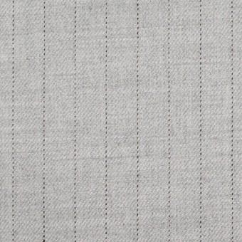 ウール&レーヨン混×ストライプ(シルバーグレー)×サージストレッチ