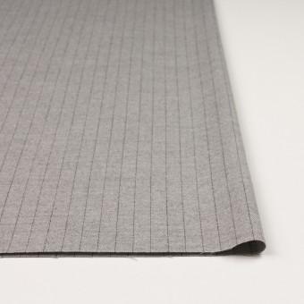 ウール&ポリエステル混×ストライプ(ライトグレー)×サージストレッチ サムネイル3