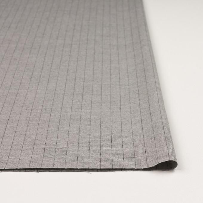 ウール&ポリエステル混×ストライプ(ライトグレー)×サージストレッチ イメージ3