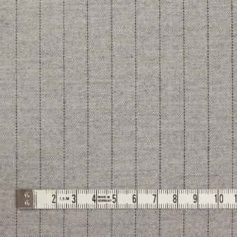 ウール&ポリエステル混×ストライプ(ライトグレー)×サージストレッチ サムネイル4