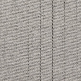 ウール&ポリエステル混×ストライプ(ライトグレー)×サージストレッチ