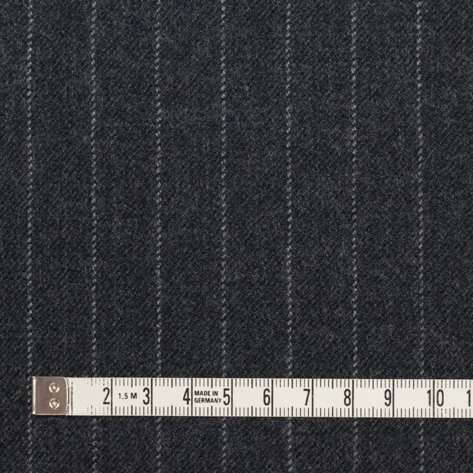 ウール×ストライプ(チャコールグレー)×サージ イメージ4