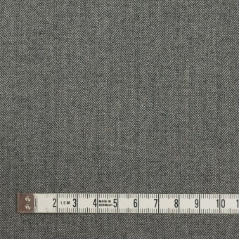 コットン&ポリウレタン×ミックス(グレー)×ヘリンボーン・ストレッチ サムネイル4